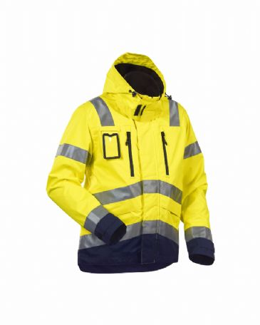 Blaklader 4837 High Vis, Water-Repellent Jacket (Yellow/Navy Blue)